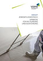 Merkblatt Zementfliessestrich