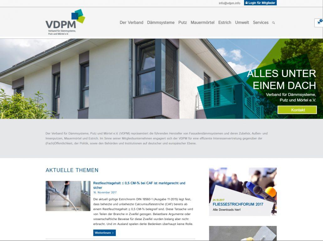 Presse Screenshot Neue Internetseite Www Vdpm Info